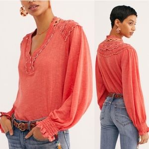 Free People Siesta embroidered boho blouse